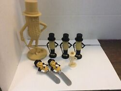 Planters Peanuts Lot Bank Salt And Pepper Toothpick Holder Cheese Spreaders