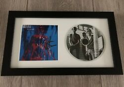 Dan Peters Signed Nirvana Sliver Framed And Matted Cd Display W/exact Proof
