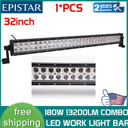 32inch 180w Led Offroad Light Bar Combo Beam Driving Truck 4wd Boat Tractor 30