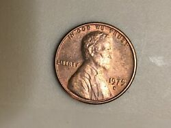 1975d Lincoln Memorial Penny-doubled Die Reverse-clipped 7/rainbow
