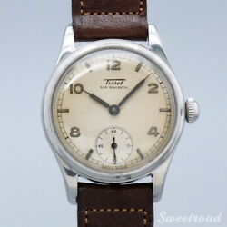 Tissot Ref.6076 Manual 1950s Leather Stainless Menand039s Watch From Japan[b1028]