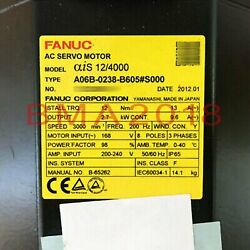 1pc Used Brand Fanuc Servo Motor A06b-0238-b605s000 Tested Fully Fast Delivery