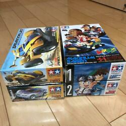 Tamiya Toy Cars Mini 4wd Set Of 4 Cars With The Box Mint Vintage From Japan Y8