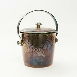 Plata Lappas Hammered Silverplate Ice Bucket With Lid Made In Argentina