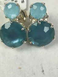 Sold Out Ippolita And039rock Candyand039 Blue 2-stone Stud Earrings Nwtandnbsp