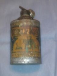 Very Rare Scarce Antique Whiz General Use Oil Tin Can Handy Oiler Lead Top