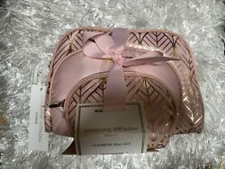 Adrienne Vittadini Set of 3 Assorted Sizes Dome Cosmetic Cases $17.99