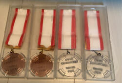 Nara Citizensand039 Athletic Meet Medal Bronze Silver Color With Case From Japan Used