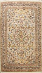 Floral Ivory Sivas Semi Antique Turkish Oriental Area Rug Wool Hand-knotted 8x12