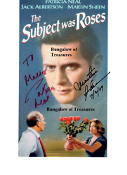 Patricia Neal And Martin Sheen 'the Subject Was Roses' Signed 8.5x11 Photo