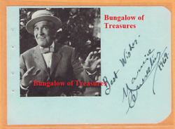 Maurice Chevaliere Signed Album Page