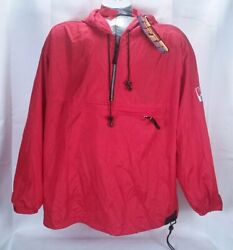 Vintage Marlboro Unlimited Gear Packable Red Hooded Anorak Mens L Large Nwt