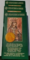 Very Rare Commemorative Set Bnr Stephen The Great Gold Silver Coppered Tombac