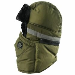 New Winter Hat Men Women Bomber Hat With Scarf Anti Haze Russian Thermal Trapper