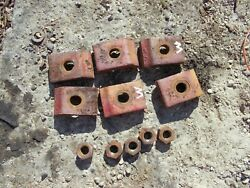 Farmall M Early Sm Ih Tractor 6 Rear Buckles Hubs To Rims And 5 Nuts