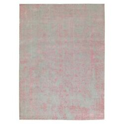 10and039x14and0391 Wool And Art Silk Transitional Design Hand Loomed Jacquard Rug G58581