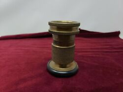 Vintage Solid Brass Fire Hose Spray Nozzle By 250 Powhatan