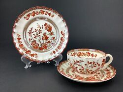 Copeland Spode India Indian Tree Cup Saucer And 6 1/2 Bread Plate