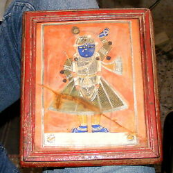 Antique Early Original Miniature Painting Of Shreenathji Water Color Collectible