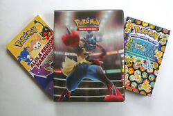 250 Pokemon Card Collection Lot W/gift Binder Many Rare Japan Cards Plus 2 Books