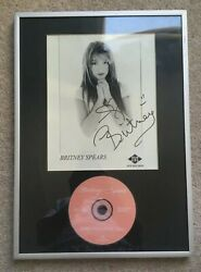 Britney Spears Hand Signed Jive Promo Photo Rare