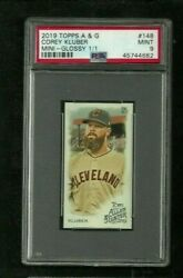 Corey Kluber 2019 Topps Allen And Ginter Glossy Mini 1/1 Psa 9 Mint Indians Sp