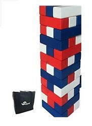 Stack It Giant Colorful Tumbling Timbers Comes With Large Dice And Storage Bag