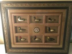 Rare Ducks Unlimited Classic American Antique Decoy Collection Framed Shadowbox