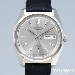 Grand Seiko Ref.6146-8000 Silver Black Leather Stainless Menand039s Watch [b1102]