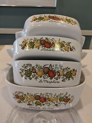 Vintage Corning Ware Spice Of Life Just Reduced Price-holiday Special