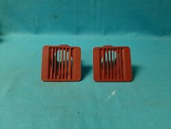 New Mopar 1968 To 1970 B-body All Plymouth Or Dodge Plastic Dash Vents-red