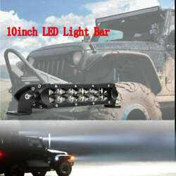 Autofeel Led Light Bar 6.8 Inch 72w Dual-rows Spot Flood Combo With Off Road