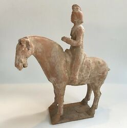 Tang Dynasty Terra-cotta Horse And Rider