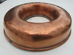 Rounded Top Antique Copper Savarin Mold Great For Decoration Or To Use C. 1880