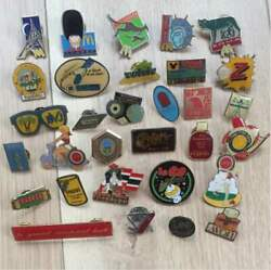 Super Valuable Vintage Pin Badge Set 1980's And 1990's Rare From Japan