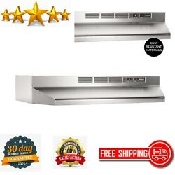 Non-ducted Ductless Range Hood W/light Exhaust Fan Under Cabinet Stainless Steel