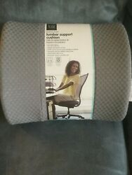 EASY HOME GRAY MEMORY FOAM LUMBAR SUPPORT CUSHION 4.2quot; X 14.2quot; X 12.0quot; NEW