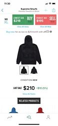 Supreme Smurfs Hooded Sweatshirt Hoodie Black Fw20 Xl X-large Sold Out In Hand