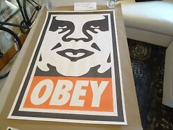 From 1995 Obey Giant Vintage Large Format Paster Shepard Fairey Street Art Print