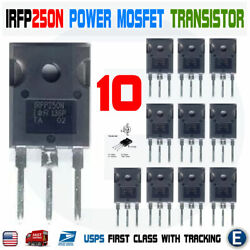 10pcs Irfp250n Irfp250 Power Mosfet N-channel Transistor 30a 200v To-247 Usa
