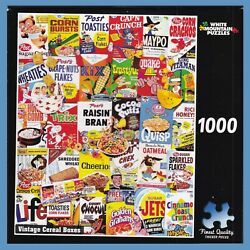 Vintage Cereal Boxes 1000-piece Puzzle - White Mountain