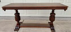 1926 Antique Mahogany Large Sofa Libraryconsole Table Made By Hp.co Beautiful