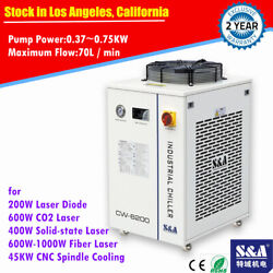 Cw-6200bn Industrial Water Chiller For 600w Co2 Laser 45kw Cnc Spindle Cooling