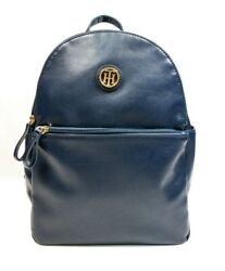 Tommy Hilfiger Navy Blue Designer Backpack Soft Faux Leather Women Gift New $35.95