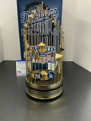 Dodgers 81 World Series Trophy Signed By Jerry Reuss, Cey, Garvey, Lopes Russell