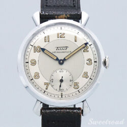 Tissot 1950s Arabic Index Manual Winding Leather Stainless Ladies Watch [b1105]