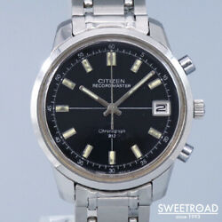 Citizen Record Master Ref.53001-ta 1968 Manual Chronograph Ss Menand039s Watch[b1105]