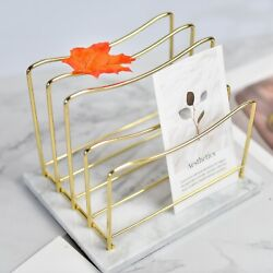 Real Marble File Holder - Marble Desk Accessories - Modern Marble Mail Organizer