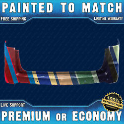 New Painted To Match Rear Upper Bumper For 2013-2017 Chevy Traverse W/ Park Asst