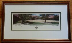 Reagan Signed Ltd 1st Edition 59 Of 250 Panorama Of Rr Library Framed W/coa